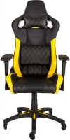 Corsair - T1 Race Padded Seat Padded Backrest Office/Computer Chair - Black/Blue Photo