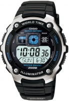 Casio World Time 200m Digital Watch - Black Photo