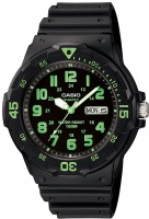Casio Standard Collection 100m WR Analog Watch - Black and Green Photo