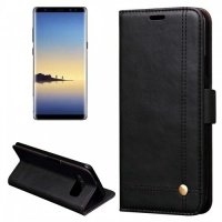 Tuff Luv Tuff-Luv Faux Leather Book-Style Stand Case Cover for Samsung Galaxy Note 8 - Brown Photo