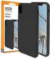 Orzly FlexiCase for iPhone X - Black Photo