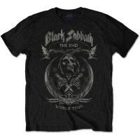 Black Sabbath The End Mushroom Cloud Mens Black T-Shirt Photo