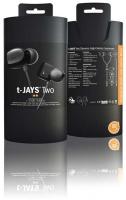 JAYS t- Two In-Ear Headphones - Black Photo