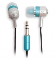 ifrogz EarPollution Metal Drumz In-Ear Headphones - Silver and Teal Photo