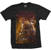 Star Wars Epiosde 7 Chewbacca Composition Mens Black T-Shirt Photo