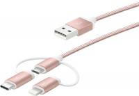 j5 create 3-in-1 Charging USB Sync Cable - Rose Gold Photo