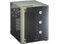 Lian Li Lian-Li PC-O8W Cube Mid-Tower Chassis - Black and Green Photo