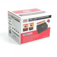 "Age Star AgeStar USB 3.1 Type-C 2.5 and 3.5"" Hard Drive Docking Station - Black Photo"