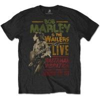 Bob Marley Rastaman Vibration Tour 1976 Mens Black T-Shirt Photo