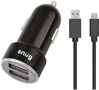 Snug Car Juice 3.4A 2-Port Car Charger With Micro USB Cable Photo