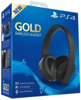 Sony PlayStation Gold 7.1 Wireless Headset - Black Photo
