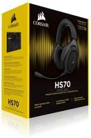 Corsair CA-9011175 HS70 Wireless 7.1 Surround Headset - Black Photo