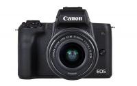 Canon EOS M50 Black Camera with M15-45S & M55-200 Lenses Photo