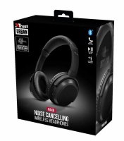 Trust - PAXO Urban Bluetooth Headphones with Active Noise Cancelling - Black Photo