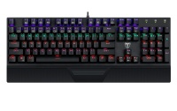 T Dagger T-Dagger Destroyer Mechanical Gaming Keyboard with Rainbow Backlighting - Black Photo