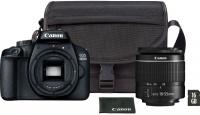 Canon EOS 4000D Black EF-S 18-55mm 3 Lens Bag 16GB SD Card Photo