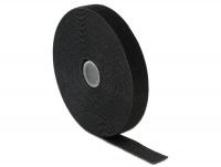 DeLOCK Velcro Cable Ties - L 10m X W 20mm Roll - Black Photo
