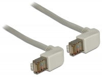 DeLOCK 2m RJ45 Cat5 SFTP Cable Angled Gry Photo
