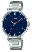Casio Enticer Analogue Ladies Wrist Watch - Silver and Blue Face Photo