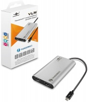 Vantec Vantect Thunderbolt 3 to Dual HDMI 2.0 4K 60Hz Adapter - Silver Photo