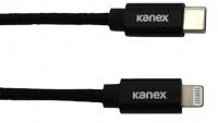 Kanex USB-C to Lightning 2m Durabraid Cable - Black Photo