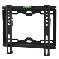 "Ellies Ultra Slim 14-43"" Fixed TV Wall Bracket - Black Photo"