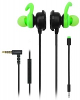 T Dagger T-Dagger Alps 120cm Dual Mic In-Ear Gaming Headset - Black and Green Photo