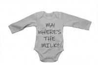 Ma - Where's the Milk? - Baby Grow Photo