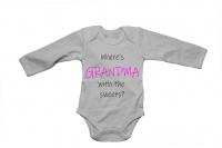 Where's Grandma with the Sweets? - Baby Grow Photo