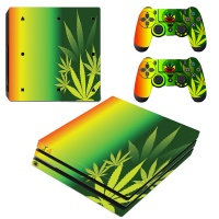 SKIN-NIT Decal Skin For PS4 Pro: Rasta Weed Photo