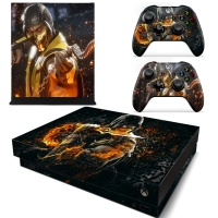 SKIN-NIT Decal Skin For Xbox One X: Scorpion Fire Photo