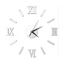 Honana DX-X5 Creative 3D Acrylic Mirror Wall Sticker Quartz Clocks Watch Large Home Decor Photo