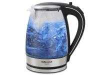 Mellerware Kettle 360 Degree Cordless Glass Silver 1.8L 2200W Azure Photo