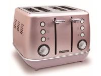 Morphy Richards Toaster 4 Slice Stainless Steel Pink 1800W Evoke Photo