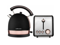 Mellerware Pack 2 Piece Set Stainless Steel Rose Gold Kettle And Toaster Photo