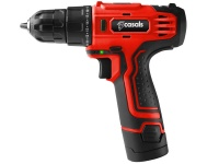 Casals Drill Cordless With Extra Battery Plastic Red 10mm 12V Photo