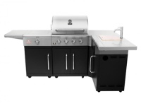 Alva Grand Outdoor 4 Burner BBQ with Sideburner & Sink Photo
