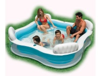 Intex Pool Swim Center Family Photo