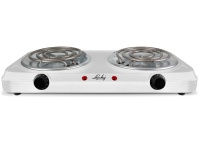 Lucky Hotplate Adjustable Temperature White Double Plate 2000W Photo