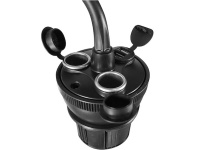 Macally Adjustable Car Cup Holder Mount With Usb charger Photo