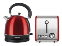 Mellerware Pack 2 Piece Set Stainless Steel Red Kettle And Toaster Photo