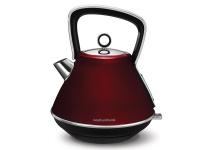 Morphy Richards Kettle 360 Degree Cordless Stainless Steel Red 1.5L 2200W Evoke Photo
