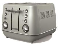 Morphy Richards Toaster 4 Slice Stainless Steel Platinum 1800W Evoke Photo