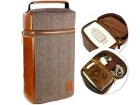 Tuff Luv Tuff-Luv Herringbone Tweed NFC Travel Case - Brown Photo