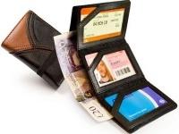 Tuff Luv Tuff_Luv Train Ticket & Bus Pass Wallet Holder Case Brown Photo