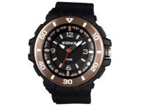 Xonix Mens Analog Wrist Watch - Black and Gold Photo