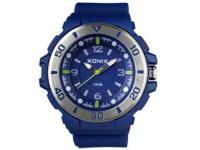 Xonix Mens Analog Wrist Watch - Blue and Silver Photo