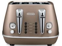 Delonghi Distinta 4 Slice Toaster Bronze Photo