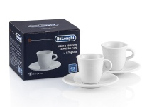 Delonghi Porcelain Espresso Cups and Saucers Photo