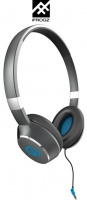 iFrogz Luxe Air On-Ear Headphone With Mic - Blue Photo